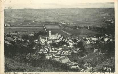 """/ CPA FRANCE 46 """"Albas, vue panoramique"""" / PRECURSEUR, avant 1900"""