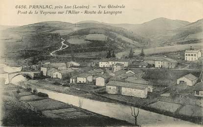"""/ CPA FRANCE 48 """"Pranlac près Luc, vue générale"""" / PRECURSEUR, avant 1900"""