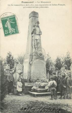 """/ CPA FRANCE 51 """"Passavant, le monument 1870"""" / PRECURSEUR, avant 1900"""