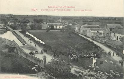 """/ CPA FRANCE 65 """"Castelnau Rivière Basse, place des écoles"""" / PRECURSEUR, avant 1900"""