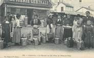 """65 Haute PyrÉnÉe / CPA FRANCE 65 """"Cauterets, la marché au lait, place de l'hôtel de ville"""" / PRECURSEUR, avant 1900"""