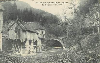 """/ CPA FRANCE 38 """"Saint Pierre de Chartreuse, la scierie de la Diat"""""""