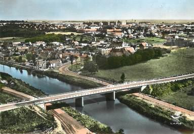"""/ CPSM FRANCE 14 """"Colombelles, le vieux Colombelles et le pont sur l'Orne"""""""