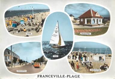 """/ CPSM FRANCE 14 """"Franceville  Plage"""""""