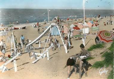"/ CPSM FRANCE 14 ""Franceville Plage, la plage"""