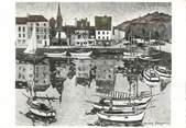"""14 Calvado / CPSM FRANCE 14 """"Honfleur, galerie du vieux bassin"""" / JACQUES BOUYSSON / PEINTRE"""