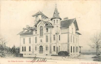"""/ CPA FRANCE 38 """"La Côte Saint André, château des Croisettes """""""