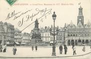 """02 Aisne / CPA FRANCE 02 """"Saint Quentin, Grand'Place, monument de 1557, hôtel de ville"""""""