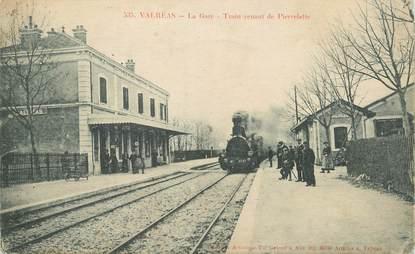 """/ CPA FRANCE 84 """"Valréas, la gare"""" / TRAIN"""