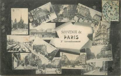 """/ CPA FRANCE 75010 """"Souvenir de Paris"""""""