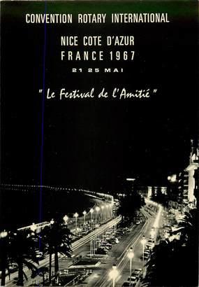 """CPSM FRANCE 06 """"Nice, la promenade des Anglais vue de nuit"""""""