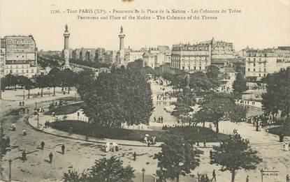 """/ CPA FRANCE 75011 """"Tout Paris, panorama de la place de la Nation"""""""