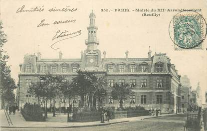 "/ CPA FRANCE 75012 ""Paris, mairie du XIIème arrondissement"""