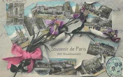 """/ CPA FRANCE 75013 """"Souvenir de Paris"""""""