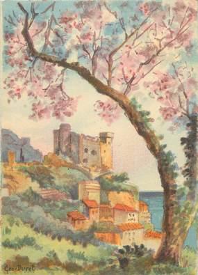 """CPSM FRANCE 06 """"Roquebrune, le vieux chateau"""" / BARRE DAYEZ"""