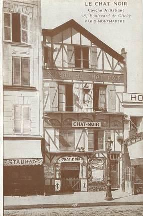 """/ CPA FRANCE 75018 """"Paris Montmartre, le chat Noir, Caveau Artistique"""""""