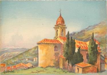 """CPSM FRANCE 06 """"La Turbie, L'Eglise"""" / BARRE DAYEZ"""