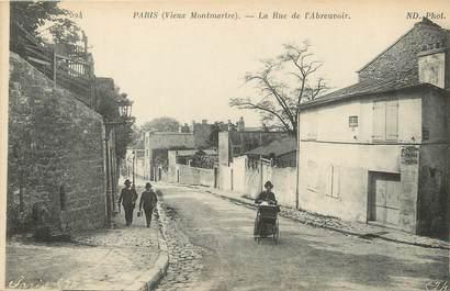 """/ CPA FRANCE 75018 """"Paris vieux Montmartre, la rue de l'abreuvoir"""""""