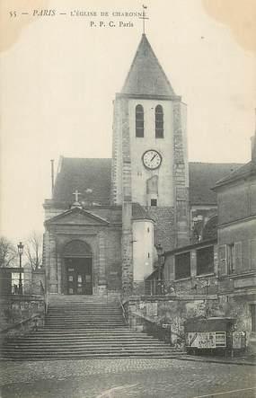 """/ CPA FRANCE 75020 """"Paris, l'église de Charonne"""""""