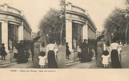 """/ CPA FRANCE 75013 """"Paris, jardin des plantes, cage aux serpents"""""""
