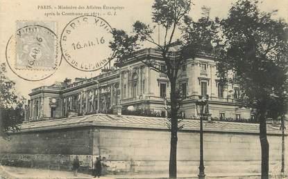 """/ CPA FRANCE 75007 """"Paris, ministère des affaires étrangères"""""""