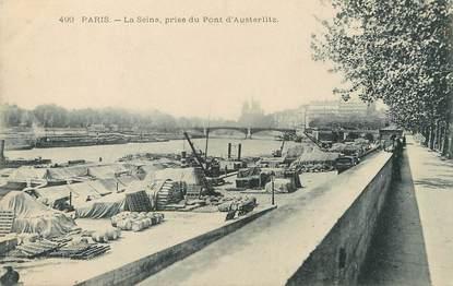 """/ CPA FRANCE 75012 """"Paris, la Seine, prise du pont d'Austerlitz"""""""