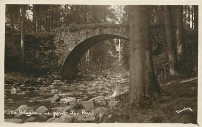 """CPSM FRANCE 68 """"La Vologne, le Pont des Fées"""""""