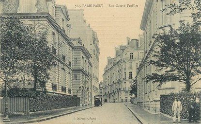 "/ CPA FRANCE 75016 ""Paris Passy, rue Octave Feuillet"""