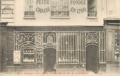 """/ CPA FRANCE 75007 """"Paris, auberge à la petite chaise"""""""