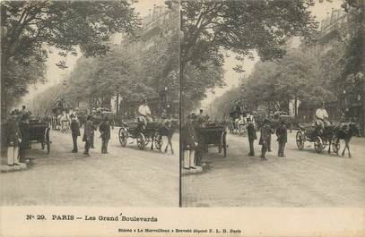 """/ CPA FRANCE 75002 """"Paris, les grands boulevards"""" / ATTELAGE"""
