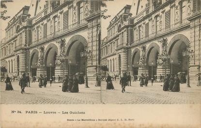 """/ CPA FRANCE 75001 """"Paris, Louvre, les guichets"""""""