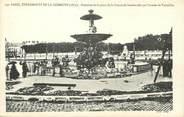 """75 Pari / CPA FRANCE 75001 """"Paris, fontaine de la place de la concorde bombardée par l'armée de Versailles"""""""