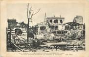 """75 Pari / CPA FRANCE 75016 """"Paris, la gare d'Auteuil bombardée par l'armée de Versailles"""""""