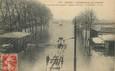 """/ CPA FRANCE 75013 """"Paris, la porte de la gare"""" / INONDATIONS"""