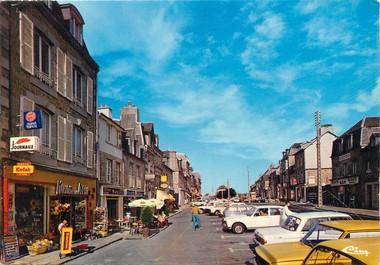 """/ CPSM FRANCE 14 """"Saint Sever, le centre"""" / COMMERCES"""