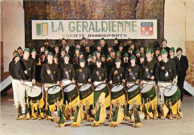 """/ CPSM FRANCE 15 """"Aurillac, La Geraldienne"""" / FANFARE"""