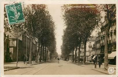 """CPSM FRANCE 37 """"Tours, avenue de Grammont"""""""