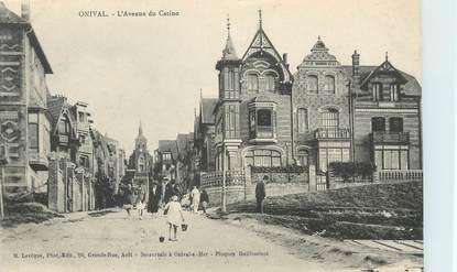 """/ CPA FRANCE 80 """"Onival, l'avenue du casino"""""""
