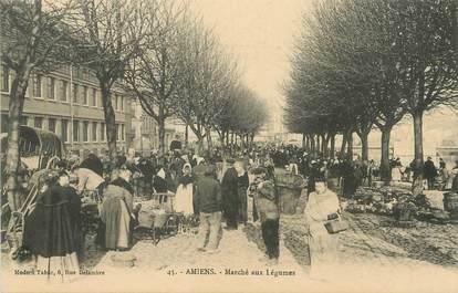 """/ CPA FRANCE 80 """"Amiens, marché aux légumes"""""""