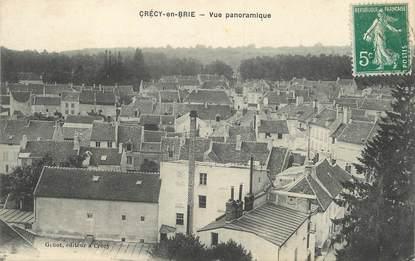 """/ CPA FRANCE 77 """"Crécy en Brie, vue panoramique"""""""