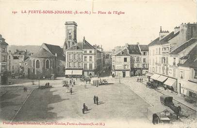 """/ CPA FRANCE 77 """"La Ferté Sous Jouarre, place de l'église"""""""
