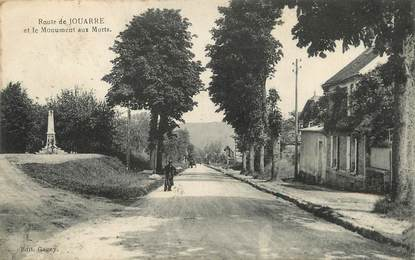 """/ CPA FRANCE 77 """"Route de Jouarre et le monument aux morts"""""""