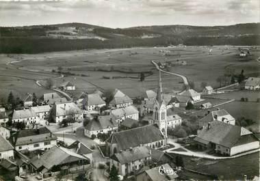 """CPSM FRANCE 25 """"Orchamps Vennes, quartier de l'Eglise, vue aérienne"""""""