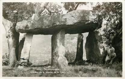 """CPSM FRANCE 83 """"Draguignan, dolmen de la pierre de la Fée"""""""