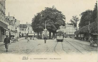 """/ CPA FRANCE 77 """"Fontainebleau, place Denecourt"""""""