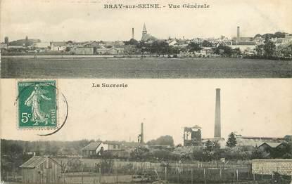 """/ CPA FRANCE 77 """"Bray sur Seine, vue générale, la sucrerie"""""""