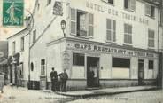"""77 Seine Et Marne / CPA FRANCE 77 """"Brie Comte Robert, rue de l'église et cours du Sauvage"""""""