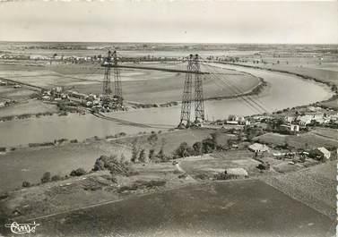 """CPSM FRANCE 17 """"Rochefort sur Mer, vue aérienne sur le pont transbordeur"""""""