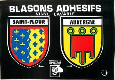 """/ CPSM FRANCE 15 """"Saint Flour"""" / BLASON ADHESIF"""