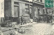 """76 Seine Maritime / CPA FRANCE 76 """"Elbeuf, ravages causés par l'orage du 30 juin 1908, la rue de l'Hospice """""""